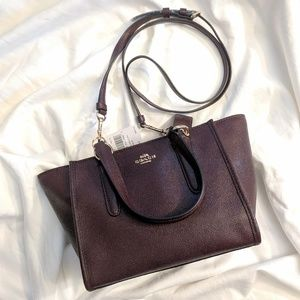 Coach 11925 Crossbody Carryall In Leather Oxblood